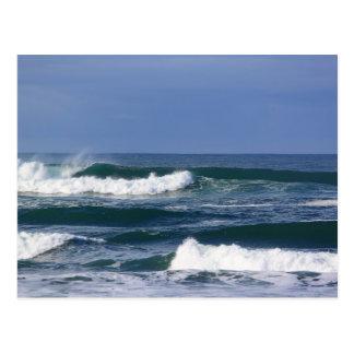 Powerful Pacific Ocean Waves II Postcard