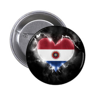 Powerful Paraguay 2 Inch Round Button