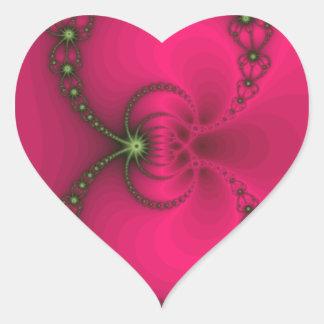 Powerful Pink Heart Sticker