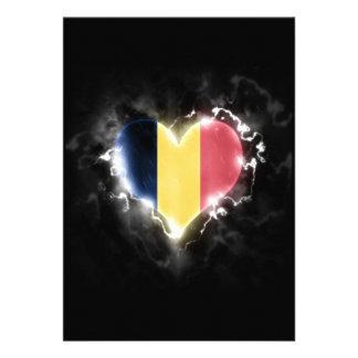 "Powerful Romania 5"" X 7"" Invitation Card"