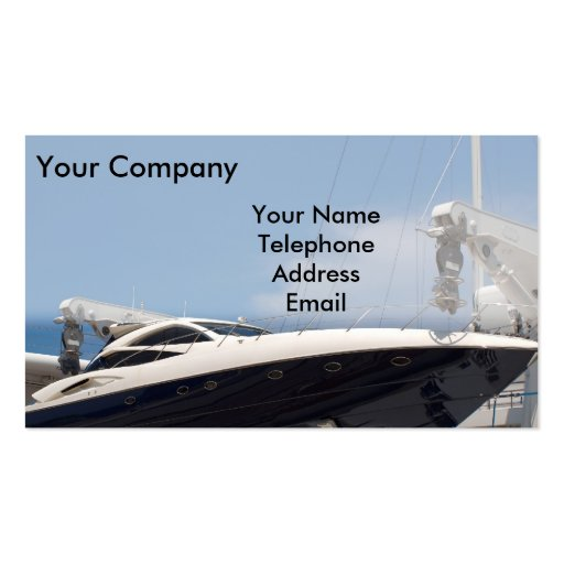 Powerful speed boat business card templates zazzle for Boat business cards