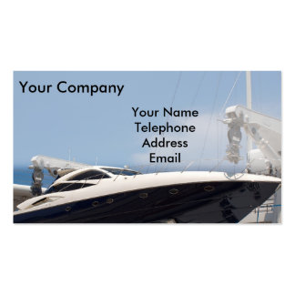Powerful Speed Boat Double-Sided Standard Business Cards (Pack Of 100)