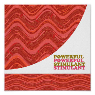 POWERFUL STIMULANT : Energy Waves Poster