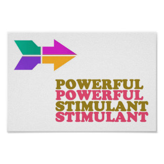 POWERFUL STIMULANT WISDOM Lowprice RELATE 2 WORDS Poster