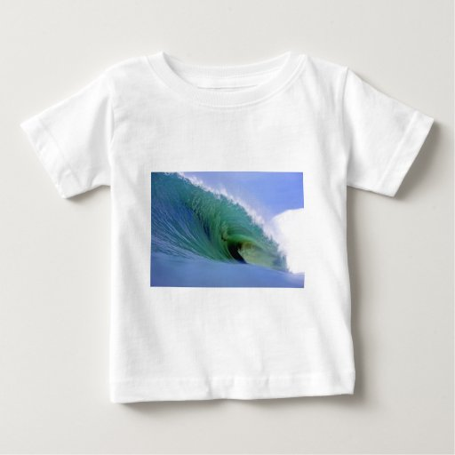Powerful surfing wave baby T-Shirt