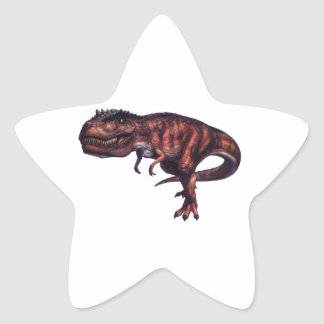 POWERFUL T REX STAR STICKER