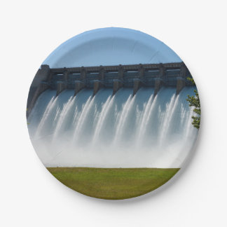 Powerful Table Rock Dam Paper Plate