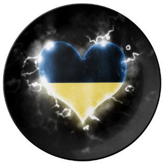 Powerful Ukraine Dinner Plate
