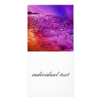 powerful waves photo card
