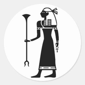 Powerful woman. classic round sticker