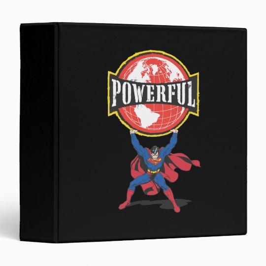Powerful World Superman 3 Ring Binder