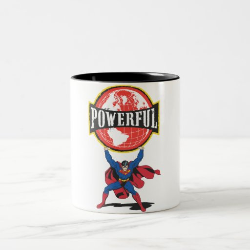 Powerful World Superman Coffee Mugs