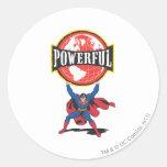Powerful World Superman Sticker