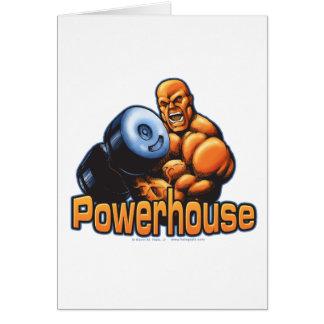 Powerhouse Curl Greeting Card