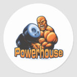 Powerhouse Curl Classic Round Sticker