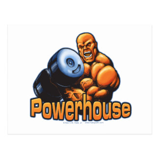 Powerhouse Curl Postcard
