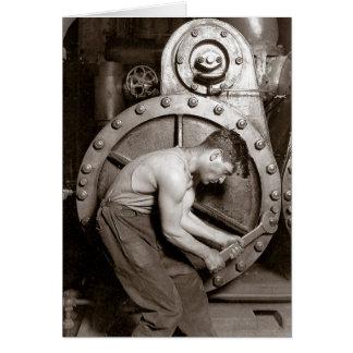 Powerhouse Worker, 1920 Greeting Card