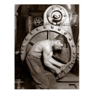 Powerhouse Worker, 1920 Postcard