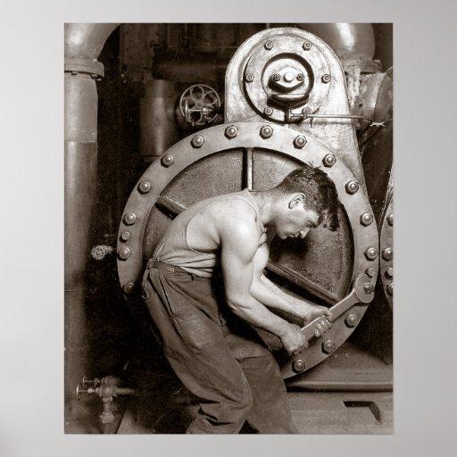 Powerhouse Worker, 1920 Poster
