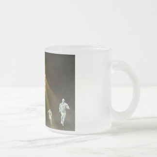 Powering Through and No Boundaries as a Concept Frosted Glass Coffee Mug