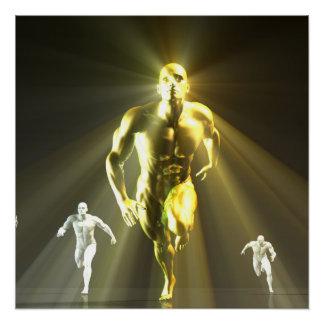 Powering Through and No Boundaries as a Concept Poster