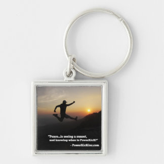 PowerKicK Peace Key Chain