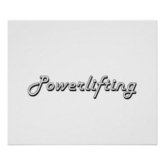 Powerlifting Classic Retro Design Poster
