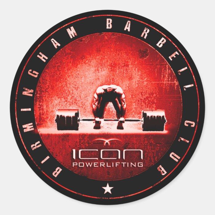 powerlifting classic round sticker