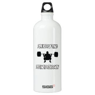 POWERLIFTING designs Aluminum Water Bottle