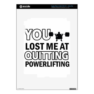Powerlifting designs iPad 3 decals