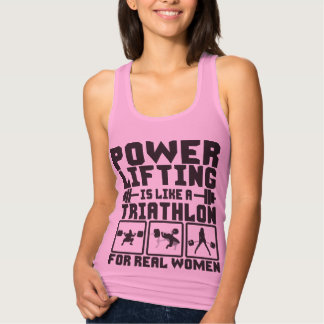 Powerlifting es como un Triathlon para las mujeres T Shirts