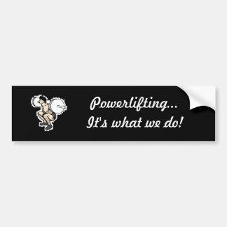 ¡Powerlifting… es lo que lo hacemos! Pegatina Para Auto
