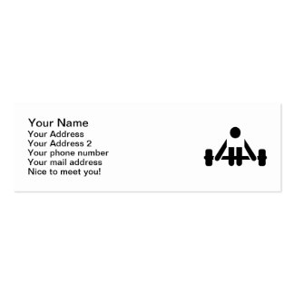 Powerlifting icon business cards