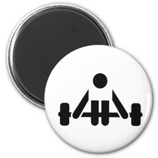 Powerlifting icon magnet