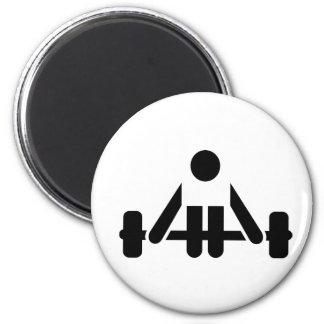 Powerlifting icon fridge magnets
