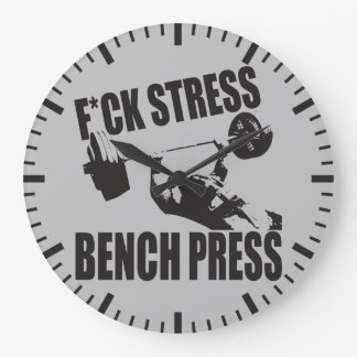 Powerlifting Motivation - F*CK Stress, Bench Press Large Clock