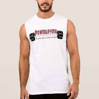 Powerlifting Sleeveless T-Shirt