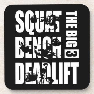 Powerlifting - Squat, Bench, Deadlift Coaster