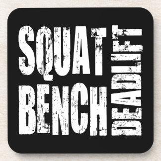 Powerlifting - Squat, Bench, Deadlift Drink Coaster