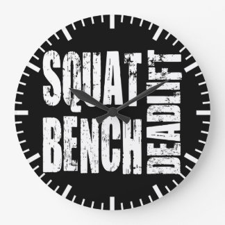Powerlifting - Squat, Bench, Deadlift Large Clock