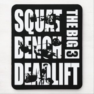 Powerlifting - Squat, Bench, Deadlift Mouse Pad