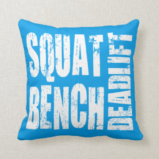 Powerlifting - Squat, Bench, Deadlift Throw Pillow