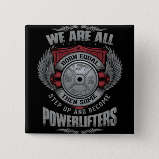 Powerlifting - STEP UP - Barbell Plate - Gym Button