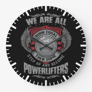 Powerlifting - STEP UP - Barbell Plate - Gym Large Clock