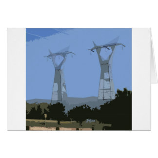 powerlines at Bonnie Doon Greeting Card