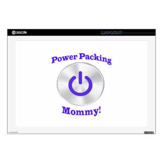 PowerPackingMommy-Blue Skin For Laptop