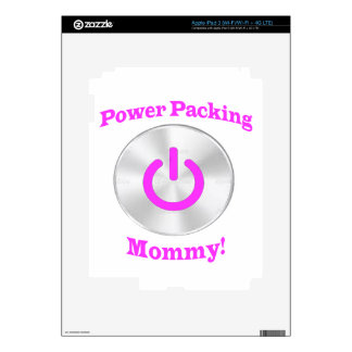 PowerpackingMommy-Pink Decals For iPad 3