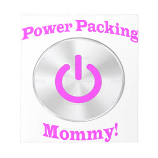 PowerpackingMommy-Pink Notepad