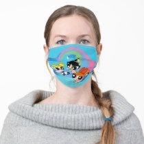 Powerpuff Girls Fly Through The Sky Adult Cloth Face Mask
