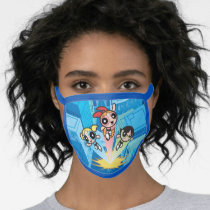Powerpuff Girls Launch Into The Air Face Mask